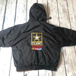 Vintage US Army Nascar Racing Waterproof Hoodie